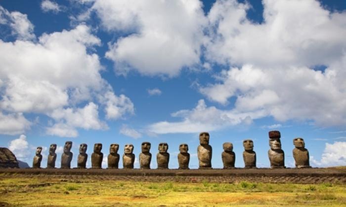 Groupon Travel (Isla de Pascua): Fin de semana largo en Isla de Pascua: 4 noches para dos desde $489.000 por persona + desayuno + aéreos + traslados. Elige fecha