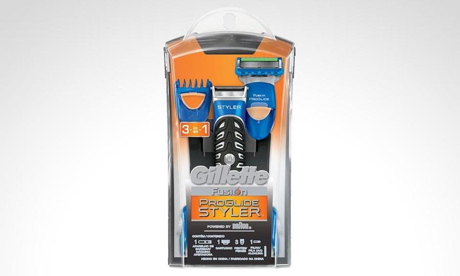 Groupon Shopping: Recortador de barba y afeitadora eléctrica Gillette ProGlide Styler. Incluye despacho