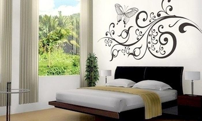 Deko stickers groupon del d a groupon for Calcomanias para paredes decorativas