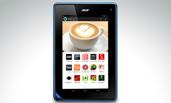 "Groupon Shopping (Tablet): $229.900 por tablet Acer® Iconia de 7"" con sistema Android® 4.2 Jelly Bean con envío"