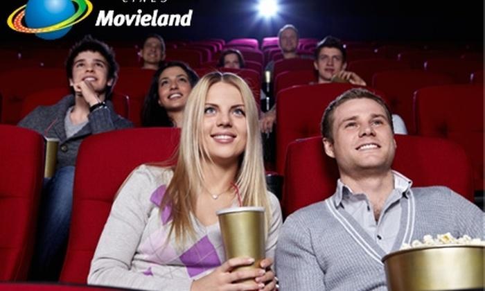 Movieland - Movieland: $6.000 en vez de $13.400 por 2 entradas de cine + combo individual en Movieland