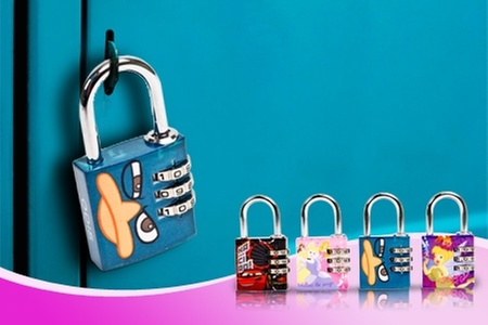 Groupon Shopping (cámaras con visión nocturna): $6.290 en vez de $12.540 por pack de 2 candados Odis modelo Disney para niño o niña con despacho
