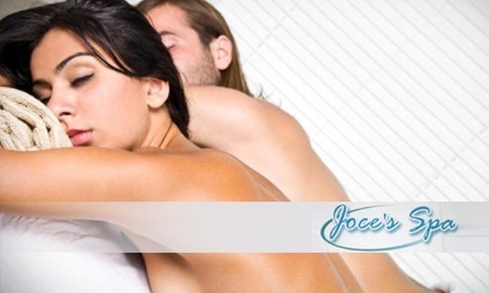 : Relajamiento en pareja: 75% de descuento por vapor con temazcal + velo de novios + baño de barro corporal para dos personas en Joce's Spa