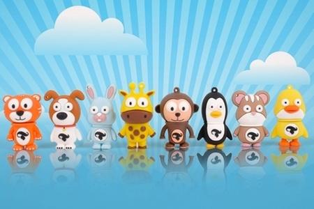 Pendrives.cl: $8.990 en vez de $15.990 por pendrive de 8 GB con diseño de animales a elección en Pendrives.cl. Incluye despacho