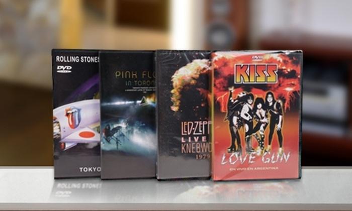 Laser Disc: $12.299 en vez de $24.640 por pack de 4 DVD's de bandas de rock con Laser Disc. Incluye despacho