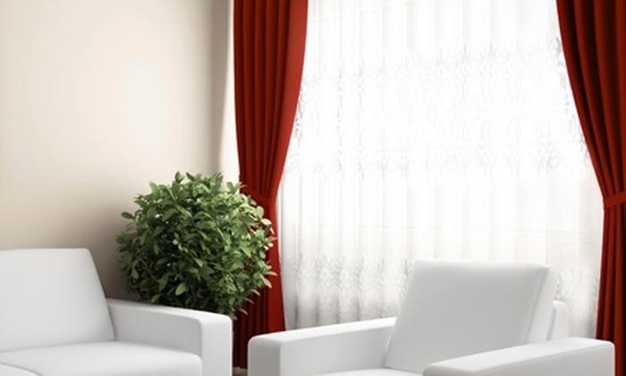 Groupon Shopping (Cortina): $13.990 en vez de $26.000 por cortina de 2 paños color a elección + velos + argollas marca Kolores con despacho