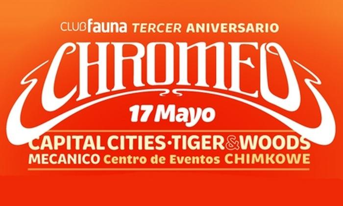 Club Fauna - Club Fauna: Paga $22.000 en vez de $44.000 por entrada 2x1 para fiesta aniversario del Club Fauna con Chromeo el jueves 17 de mayo