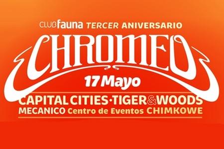 Club Fauna: Paga $22.000 en vez de $44.000 por entrada 2x1 para fiesta aniversario del Club Fauna con Chromeo el jueves 17 de mayo