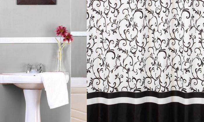 groupon shopping cortinas de bao estampadas argollas para colgar incluye despacho