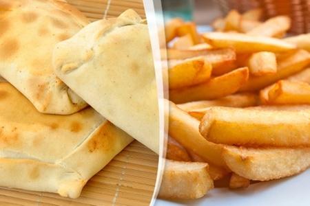 La Caleta de Empanadas: $8.700 en vez de $17.500 por 10 empanadas + papas fritas familiar en La Caleta de Empanadas