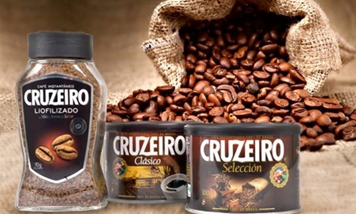 Cruzeiro: $4.390 en vez de $8.648 por pack de café Cruzeiro que incluye: Cruzeiro Clásico 100 g + Cruzeiro Selección 100 g + Cruzeiro Liofilizado 90 g con despacho