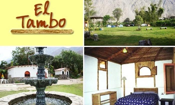 Bembos: Habitación matrimonial por una noche con 51% de descuento en Hotel El Tambo Lunahuaná