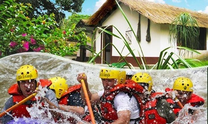 : Paga $2192 en vez de $4872 por 3 días y 2 noches para 2 + rafting + parrillada + copas de vino en Río Salvaje Centro Jalcomulco