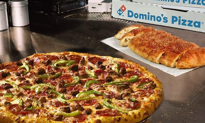 Dominos Pizza: 41% off en Dominos Pizza Dominator extra grande de 4 ingredientes + Breadstick