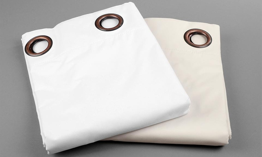 Groupon Shopping: Cortina térmica blackout con argolla en color a elección. Incluye despacho