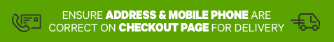 Ensure address & mobile phone are correct on checkout page for delivery.