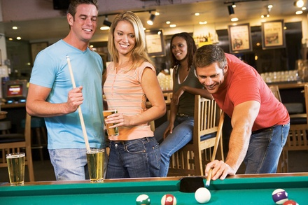 $13 For Play-All-Day Pool For 2 People Including 2 Appetizers (Reg. $26)