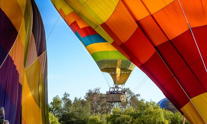 Temecula Wine Country Morning Helicopter and Hot Air Balloon Rides - Roripaugh Ranch: Morning Hot Air Balloon Rides
