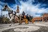 Paseo en coche de caballos y visita a pie privados por Sevilla
