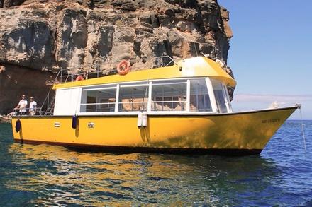 Excursión en barco con buceo de superficie en Puerto de Mogán