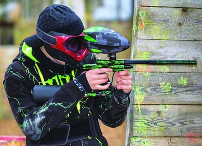 $55 For Paintball Package For 2 Includes Semi-Auto Marker, Co2 Tank & Refill, Hopper, Full Face Goggles, Torso Armor, Camo Jacket, Pod Pack & 500 Paintballs (Reg. $110)