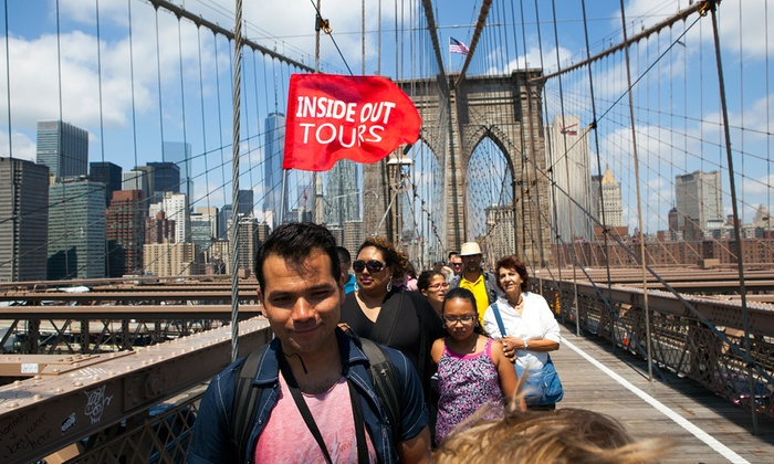 In front of the Tweed Courthouse Building - Civic Center: Brooklyn Bridge and DUMBO Neighborhood Tour