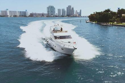 8 Hr Yacht Charter in Miami - 58' Neptunus Flybridge with Capt & Crew - You+12