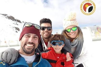 Clases de esquí familiares
