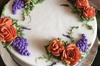 Day of the Dead Buttercream Flower Cake