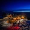 Crystal Hut Fondue by Snowmobile