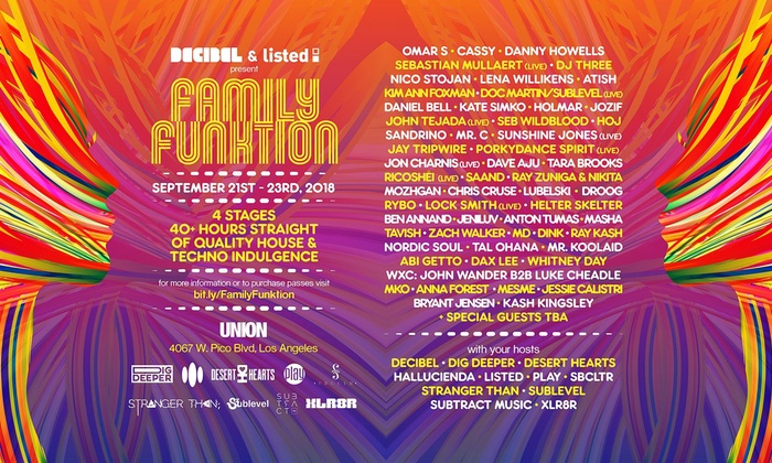 FAMILY FUNKTION 60 House Techno Acts 4 Stages 40 Hours