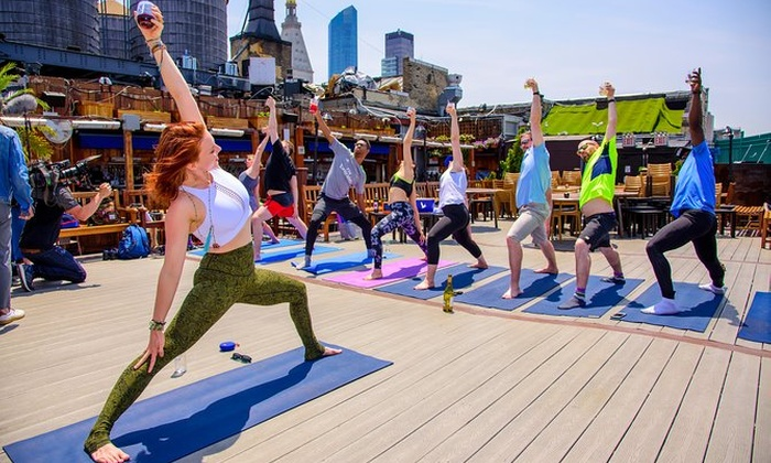 Drunk Yoga In New York City Groupon