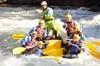 Rafting en los rápidos de Llavorsí a Sort, en Cataluña