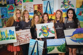WINE &  DESIGN: $40 For 2 Adult Admissions To Paint & Sip Session (Reg. $80)