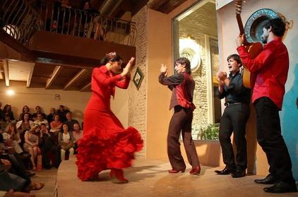 Entrada al espectáculo de flamenco en la Casa de la Memoria