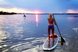Sunset Stand Up Paddleboard Tour of Linkhorn Bay at Chesapean Outdoors, plus 6.0% Cash Back from Ebates.