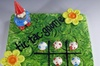 Make tic tac toe game out of clay in Bronte Harbour, Oakville, Ontario
