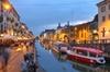 Tour serale a piedi dei Navigli a Milano con cibo e vino