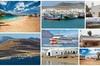 Ferry barato de regreso desde Orzola en Lanzarote a la isla de La G...
