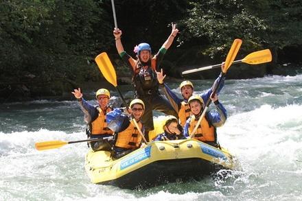 Rafting sul fiume per famiglie