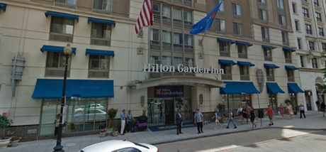 Parking at Hilton Garden Inn (Electronic Vehicle Charging stations)