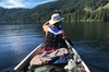 Canoeing on the iconic Loch Maree, landing at Isle Maree and the pe...