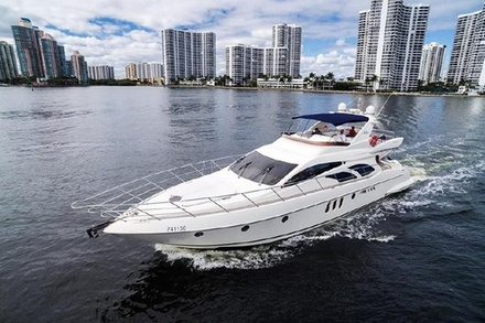 4 Hours Private Charter On A 62' Azimut Fly Bridge Luxury Yacht