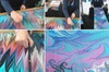 Paint a Water Marbled Silk Scarf