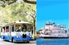 Savannah Land & Sea Combo: City Sightseeing Trolley Tour with River...