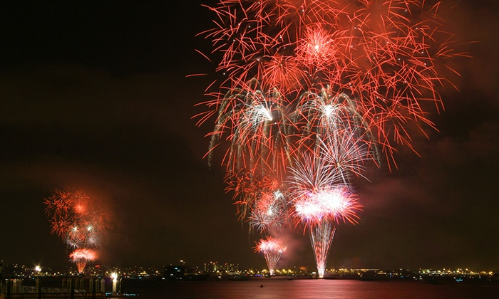 Coronado Ferry Landing - Candelas on the Bay: Summer Fireworks Kayak Tour