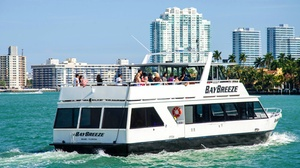 City Sightseeing Bus: Biscayne Boat Cruise Plus Hop-On/Hop-Off Bus Tour: South Beach Road at City Sightseeing Bus