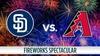 Chase Field - Copper Square: San Diego Padres vs. Arizona Diamondbacks: Fireworks Spectacular - Monday July 4, 2016 / 6:10pm