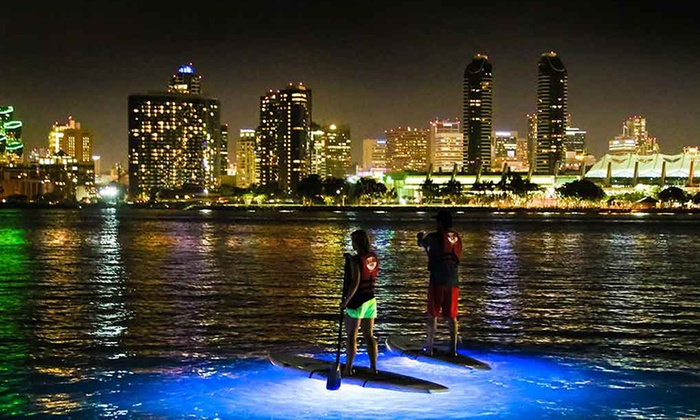 Coronado Ferry Landing - Candelas on the Bay: Stand Up Paddle Board Night Tour