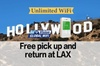 Unlimited WiFi In Hollywood USA, pick up at Los Angeles Airport